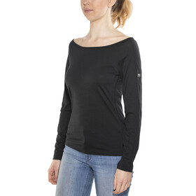 super.natural Scoop Neck LS 175 - T-shirt manches longues Femme - noir
